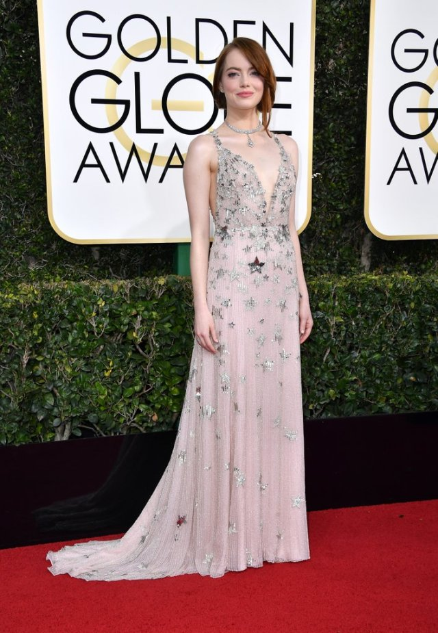 emma-stone-her-brother-2017-golden-globe-awards